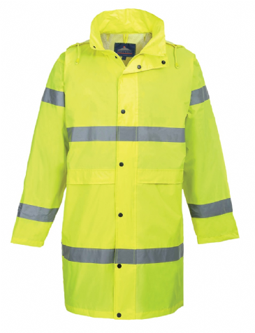 Portwest hi-vis rain coat H442